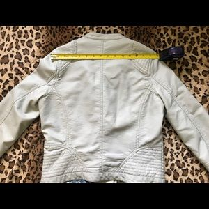 Jou Jou Jackets & Coats - JouJou baby blue pleather moto jacket